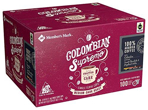 - Member's Mark Colombian Supremo Coffee, Single-Serve Cups (100 ct.)
