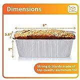 Aluminum Mini Loaf Pans (50 Pack) - Disposable