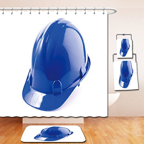Beshowereb Bath Suit: Showercurtain Bathrug Bathtowel Handtowel hard hat safety helmet on isolated white background (Maiden Of The Sea Pirate Hat)