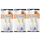 Pet Nurser Bottles Kit, 2.2 oz, 2 Pk (Set of 3 (6 Count)) by Four Paws