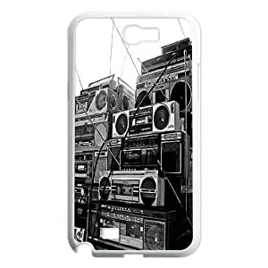 Custom Boombox Note2 Case, Boombox Personalized Case for Samsung Galaxy Note2 N7100 at Lzzcase