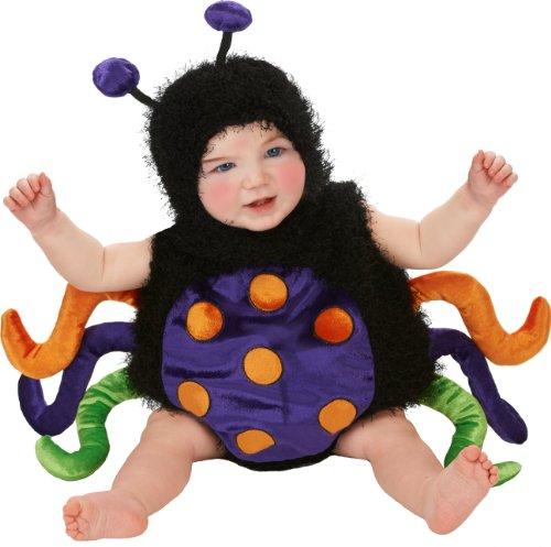 [Just Pretend Kids Infant Romper, 0-6 Months, Spider-Multi] (Baby Girl Spider Halloween Costume)