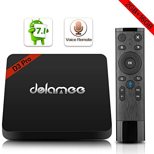 Android Tv Box, Dolamee D3 Pro Android 7.1 2GB RAM 16GB ROM True 4K Smart Tv Box Support BT 4.0 Wifi...