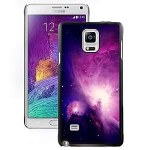 Fashionable Custom Designed Samsung Galaxy Note 4 N910A N910T N910P N910V N910R4 Phone Case With Spectacular Purple Nebula Space_Black Phone Case