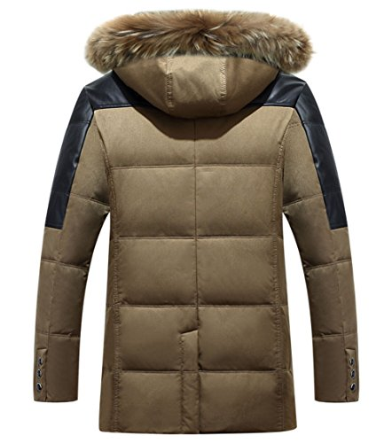 Jacket Hood Coat Winter Field Men's Thicken Fur Autumn Blue Coat Jacket Warm Down Casual with Removable 6PawwgxCq