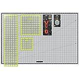 ARTEZA Rotary Cutter Quilting Kit, Set of 6 (6X6, 9.5X9.5 6.5X24 Ruler, 24X36 Self Healing Mat, 45mm Cutter, 45mm Blades 3 Pack)