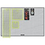 Arteza Rotary Cutter Quilting Kit, Set of 6 (6X6'', 9.5X9.5'' 6.5X24'' Ruler, 24X36'' Self Healing Mat, 45mm Cutter, 45mm Blades 3 pack )