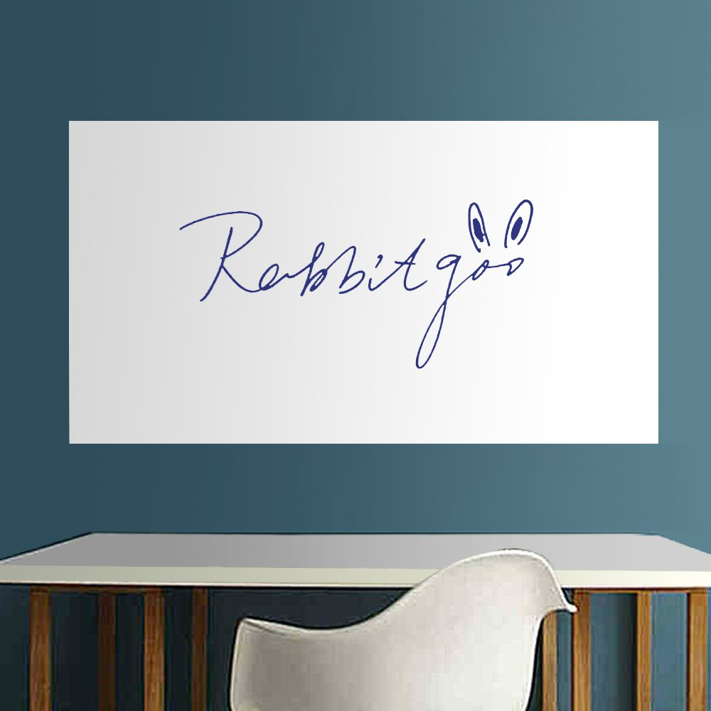 Rabbitgoo Thick Whiteboard Sticker Wallpaper Self Adhesive Sticky Sheets 44 5 200cm Dry Erase Whiteboard Planner With 1 Free Magnetic Water Based
