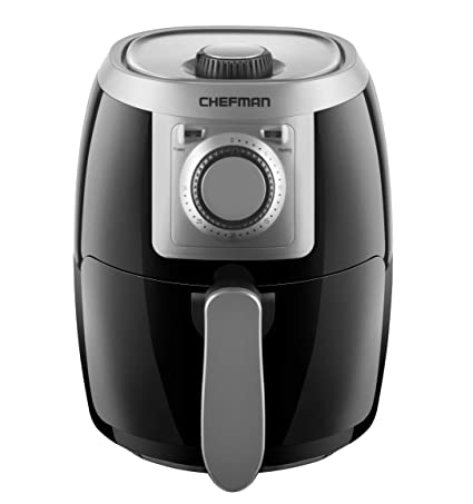 Chefman Turbo Fry 2 Liter Air Personal Compact Healthy Fryer W/Adjustable Temperature Control, 30 Minute Timer And Dishwasher Safe Basket, Black by Chefman