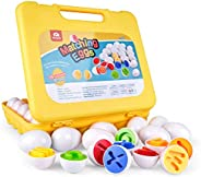 Coogam Letters Matching Eggs 26PCS ABC Alphabet Color Recoginition Sorter Puzzle Easter Travel Bingo Game Uppe