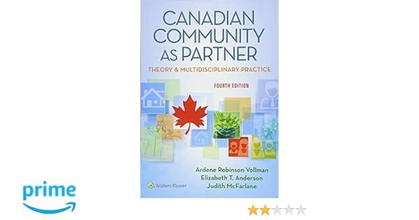 Canadian Community As Partner Theory And Multidisciplinary Practice