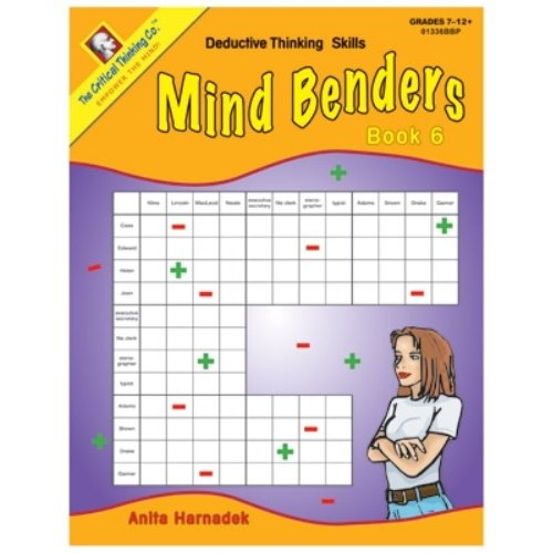 Price comparison product image Mind Benders: Deductive Thinking Skills, Book 6, Grades 7-12+