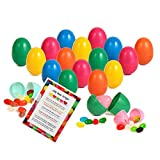 Easter Eggs Filled with Jelly Bean Candy - Plus Bonus Jelly Beans Prayer - Perfect Kids Easter Basket Stuffers (Bulk Pack of 24)