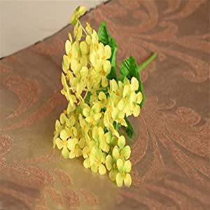 Connoworld-1Pc Primroses Simulation Bouquet Small Artificial Silk Flower Wedding Home Decor - Yellow 3