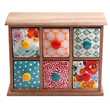 The Pioneer Woman Flea Market 6-Drawer Spice/Tea Box (1)