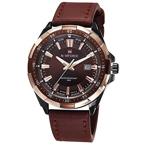 Kenon - Reloj digital deportivo de piel auténtica resistente al agua con mecanismo de cuarzo: Amazon.es: Relojes