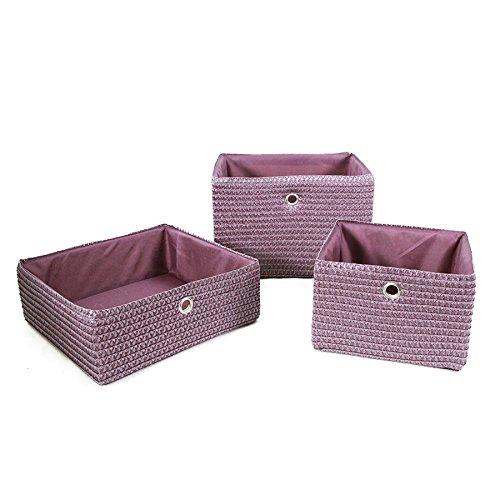 Carpemodo Korb Aufbewahrungskorb mit Innenfutter Farbe Lila/Violett ...