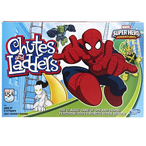 Hasbro Gaming Marvel Spider-Man Web Warriors Chutes & Ladders Game (Marvel Spider Web Man)