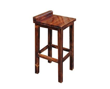 Prendi uno sgabello sgabello alto da bar in legno massello