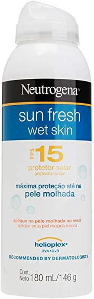 Protetor Solar Wet Skin Sun Fresh Aerosol Fps 15 Neutrogena