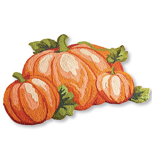 Collections Etc Fall Pumpkin Patch Accent Rug by Collections Etc