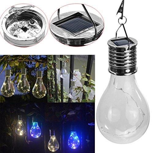 Enterrado luces, nomeni 1,2 V paneles solares, resistente al agua Solar giratorio para exteriores jardín Camping Hanging Luz LED lámpara bombilla: ...