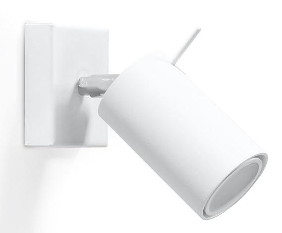 NovitÀ! applique bianco per salotto e corridoio acciaio sollux