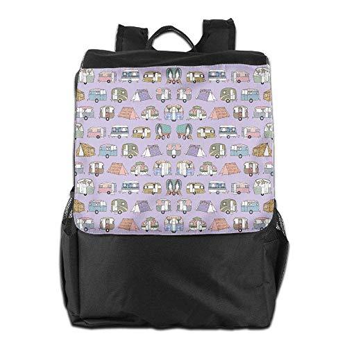 Donna Happy School Bookbag Laptop College zaino Colorful Uomo Camper Uhfgyhuihjf Viaggio PZuTkOiwX