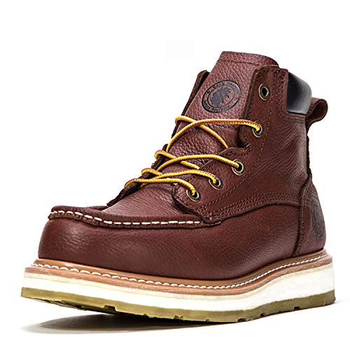 ROCKROOSTER Work Boots for Men, Composite/Soft/Steel Toe Waterproof Safety Working Shoes (F1-AP360, 13-DKB)]()