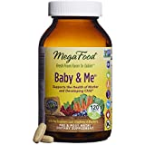 MegaFood - Baby & Me, Prenatal and Postnatal Supplement to Support Healthy Pregnancy, Development, Bones, and Red Blood Cell Levels for Mother and Child, Vegetarian, Gluten-Free, Non-GMO, 120 Tablets