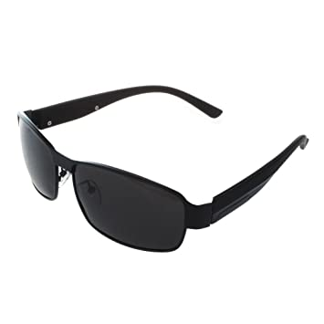 31a8760892a SODIAL(R) Fashion Driving Glasses Polarized Men Sunglasses Outdoor Sports  Goggles Eyewear- Black  Amazon.co.uk  Sports   Outdoors
