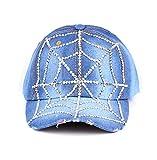 primerry Blue Fashion (Spider Web Point Drill Denim) Hip-Hop Baseball Cap Hat