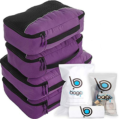 (bago Packing Cubes for Travel Bags - Luggage Organizer 10pcs Set in 12 Colors)