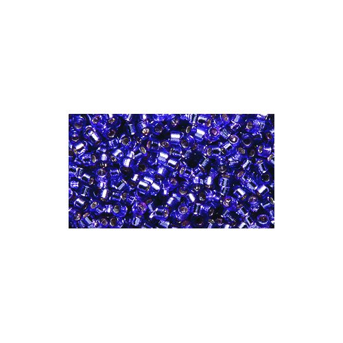 Miyuki Delica Seed Bead 11/0 DB2168, Duracoat Silver Lined Orchid Violet, 9-Gram/Pack