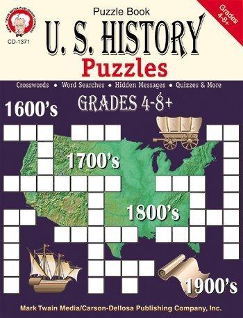 8 Pack CARSON DELLOSA US HISTORY PUZZLES BOOK