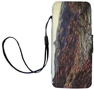 Rikki Knight Claude Monet Art Gorge of the Petite Creuse Flip Wallet iPhoneCase with Magnetic Flap for iPhone 5/5s - Gorge of the Petite Creuse