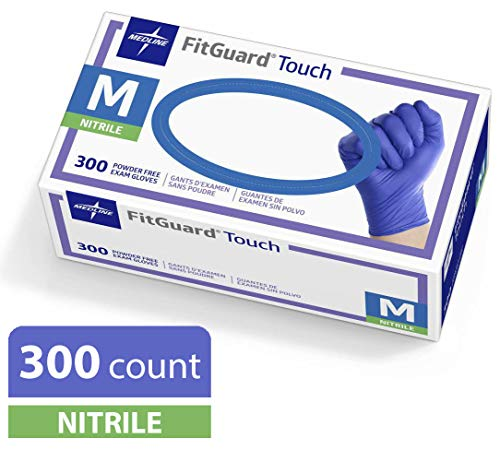 Medline FitGuard Nitrile Disposable Powder Free
