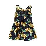 Software : G&Kshop Baby Girls Dress Summer Sleeveless Pineapple Print Tie Knot A-Line Party Dress (Size:2-3T, Navy)