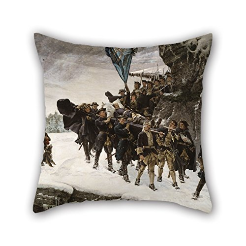 Uloveme Oil Painting Gustaf Cederström - Bringing Home The Body Of King Karl XII Of Sweden Pillowcover 20 X 20 Inches / 50 By 50 Cm Best Choice For Birthday,indoor,saloon,bench,lover,gril Friend W
