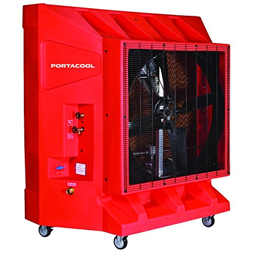 Portacool PAC2K36HZ Hazardous Location Portable Evaporative Cooler, 36-Inch, 9600 CFM, 2500 Square Foot Cooling Capacity, Orange