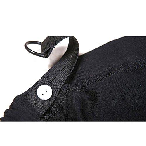Highdas Embarazada Delgada Slim Leggings Pies Pantalones Negro