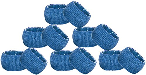 Napkin Holder Vintage Turquoise Pack of 12 Handmade Napkin Rings for Home Kitchen -2.5 Inch