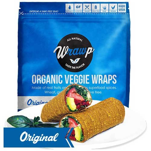 Wrawp Organic Original Veggie Wrap, 5.3 Ounce - 8 per case. by Wrawp