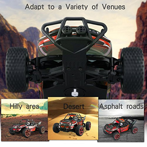 Zhencheng 1/18 Scale Electric RC Rally Car Truck 2.4Ghz 4WD Extreme Speed Buggy Sport Car Toy Vehicle,Color may Vary