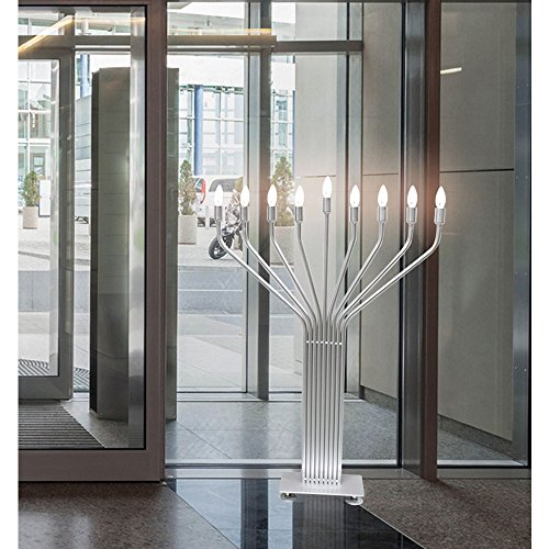 Zion Judaica Electric Menorah Extra Large Floor Standing for Lobby and Public Places Indoor Use with Automatic Lighting Sequence - 44'' Tall , Bulbs Included by Zion Judaica Ltd (Image #1)