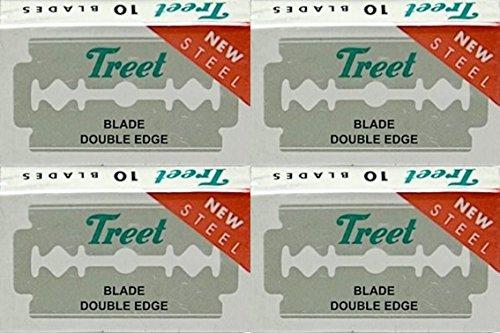 40 Treet New Steel Double Edge Razor Blades
