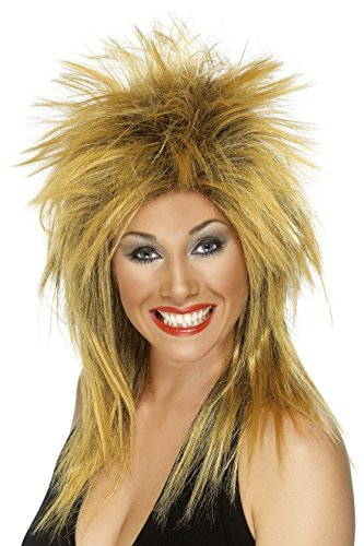 Long Ginger Wig (Smiffy's Women's Long Ginger Rocker Mullet, One size, Rock Diva Wig, 5020570422403)