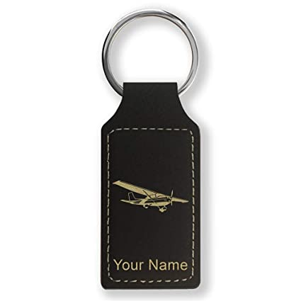 Amazon.com : Rectangle Keychain, High Wing Airplane ...