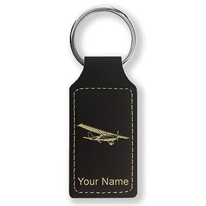 Amazon.com : Rectangle Keychain, High Wing Airplane ...