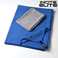 Incite Elite Microfiber Towels - Perfect Quick Dry Towel Set for Travel, Sports , Camping, Beach, Gym or Backpacking Micro Fiber is Fast Drying Best Travel Towel